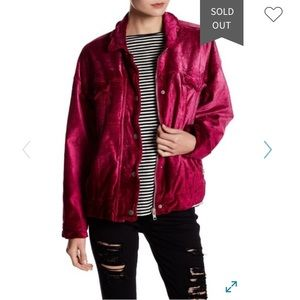 Free people pink velvet jacket